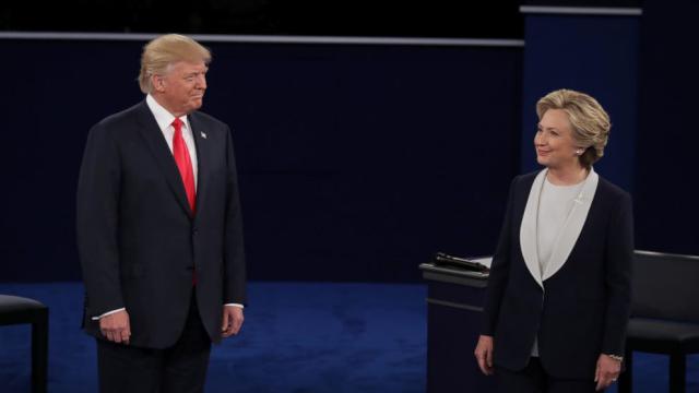 Trump Clinton debate #2